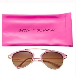 Betsey Johnson Pink Sunglasses With Case